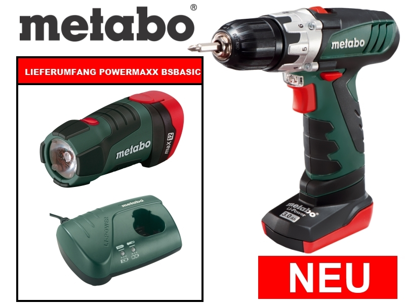 Metabo PowerMaxx BS Basic und PowerLED