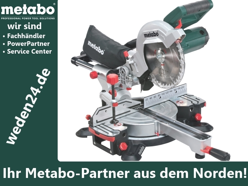 metabo kgs 216 m kapp und gehrungss ge weden metabo service. Black Bedroom Furniture Sets. Home Design Ideas