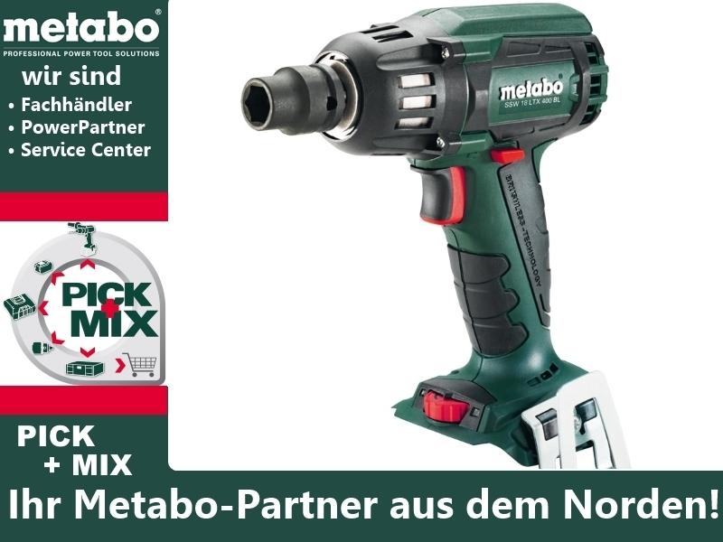 Metabo Akku-Schlagschrauber SSW 18 LTX 400 BL MetaLoc